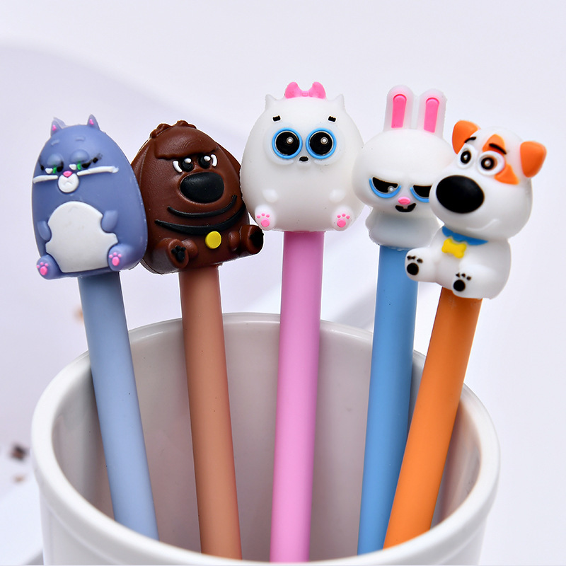 36 Pcs/lot Animal Gel Pens For Writing Cute Pet 0.5mm Black Ink Pen Stationery Promotional Gift  School Office Supplies