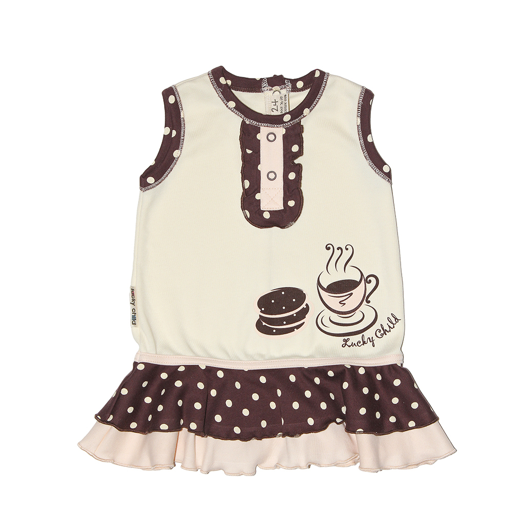 Dresses Lucky Child for girls 23-61 Dress Kids Sundress Baby clothing Children clothes dresses lucky child for girls 50 63 18m dress kids sundress baby clothing children clothes
