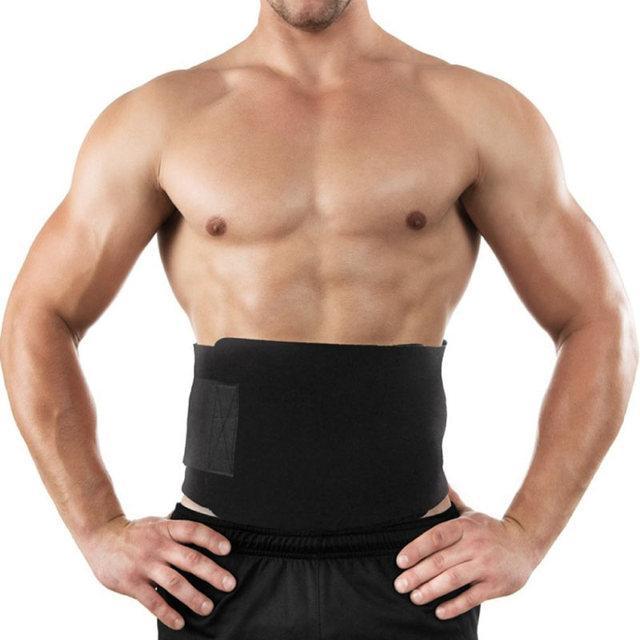 Professional Waist Trimmer Sports Gym Sweat Belt Premium Waist Support For Men And Women Universal Black Neoprene Fitness