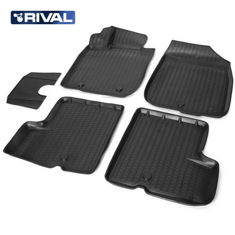 For Renault Duster 2WD 2010-2014 3D floor mats into saloon 5 pcs/set Rival 14701001 3d floor mats for renault duster 2wd 2011 2012 2013 2014 element nlc3d4129210kh