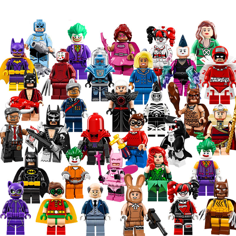 Single Sale Batman Joker Robin Logan X-Men Super Heroes Building Blocks Figures Toys Compatible With LegoINGly Batman building blocks super heroes back to the future doc brown and marty mcfly with skateboard wolverine toys for children gift kf197