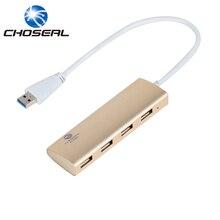 Choseal USB 3 0 Hub Metallic shell Super Speed 4 Ports Micro External USB Hub Splitter