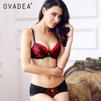 OVADEA Women S Sexy Lace Floral Bra Set Embroidery Push Up Padded Bra Plus Size Adjusted