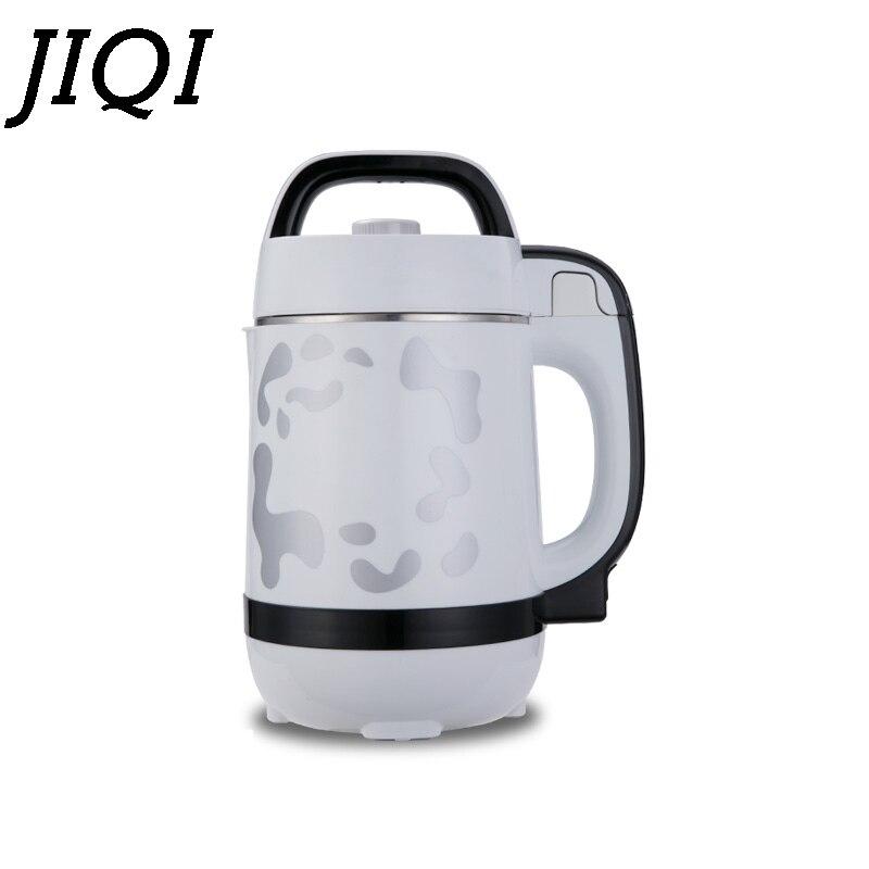 JIQI 1.2L Soymilk machine household Soyabean Milk Maker Stainless Steel filter-free heating soy Milk beans juicer 110V US Plug цена и фото