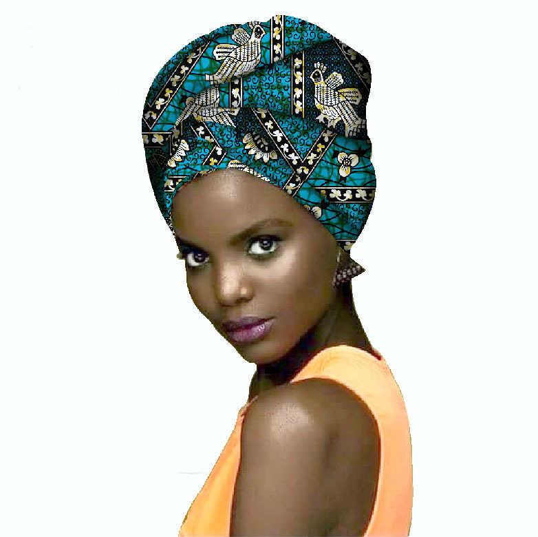 Mylb אופנה 100% פוליאסטר בד אפריקאי Headwraps לנשים ראש צעיף עבור גברת גובה איכות כותנה נשים Headwraps