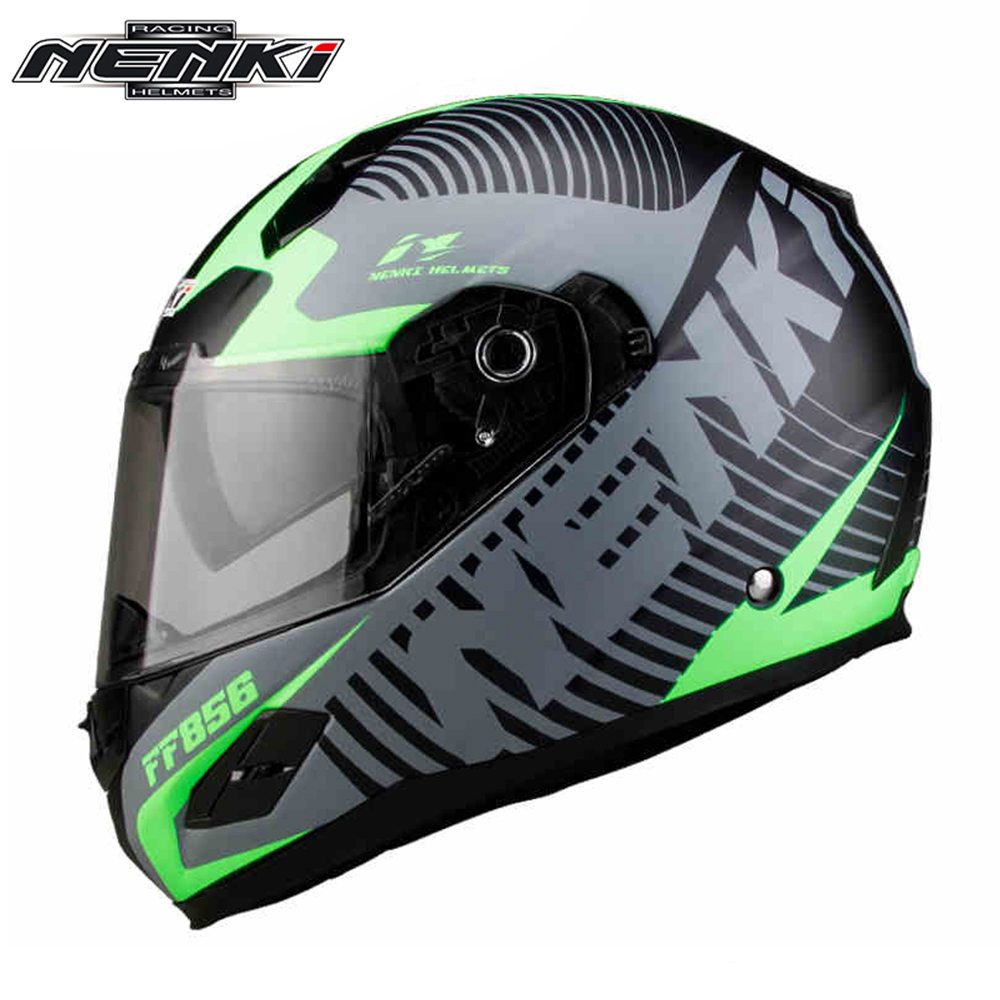 NENKI Motorcycle Helmet Fiberglass Shell Street Moto Touring Helmet Motorbike Racing Riding Full Face Helmet DOT Certification nenki motorcycle helmet motorcycle full face helmet men motocross helmet motorbike touring racing casco moto capacetes dot