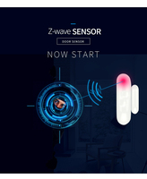 YobangSecurity Z wave APP Door Window Sensor Work with Zwave 300 500 series Magnet Lock Door Sensor Alarm For Home Security