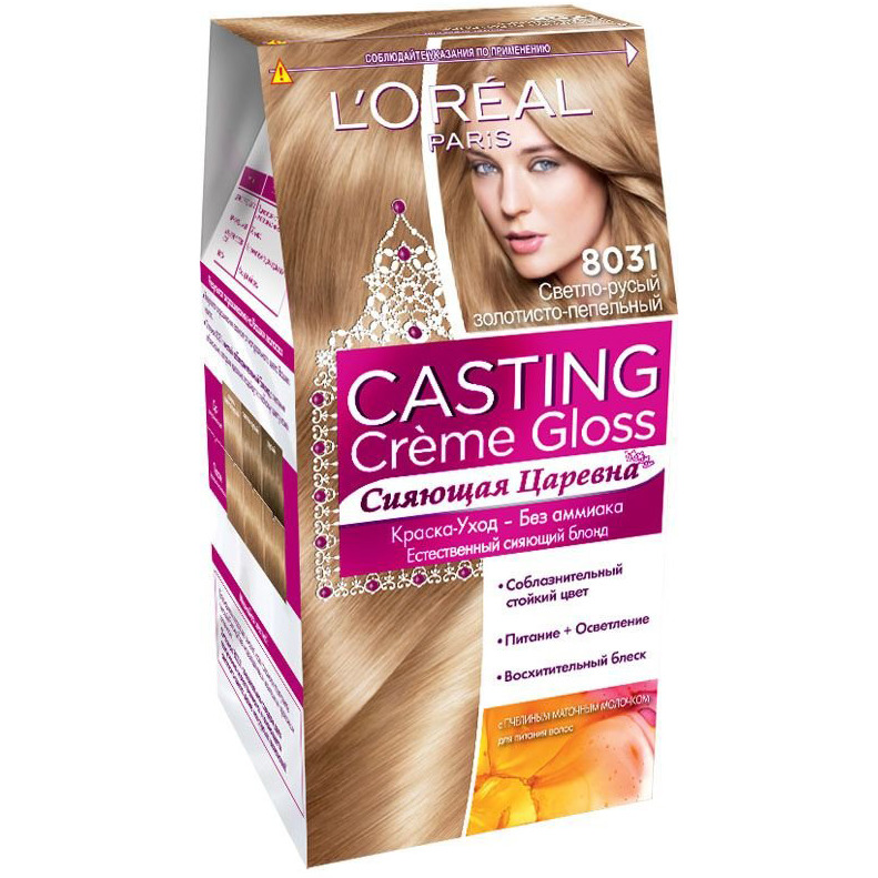 Loreal Casting Creme Gloss Hair Color Cream Tone 8031 Dark Blonde