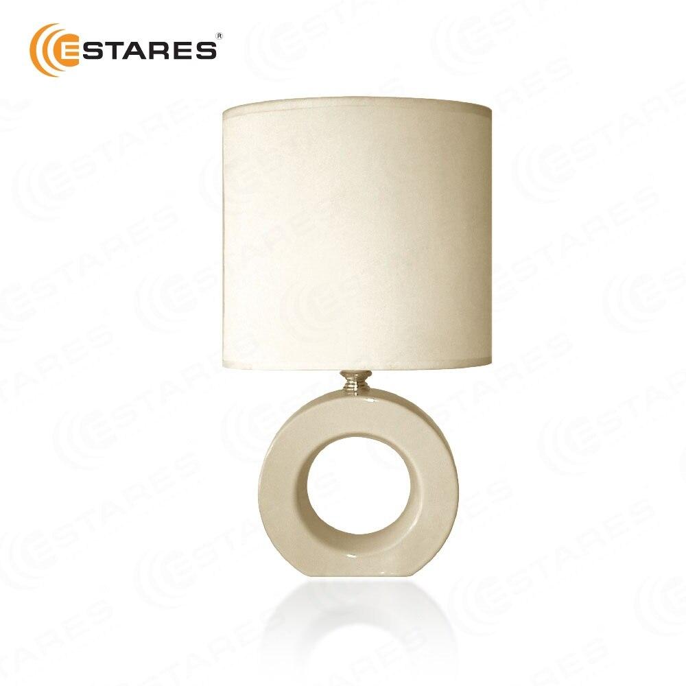 ESTARES Hause Tisch Lampe AT12293 kaffee/rosa/weiß/grün/Beige