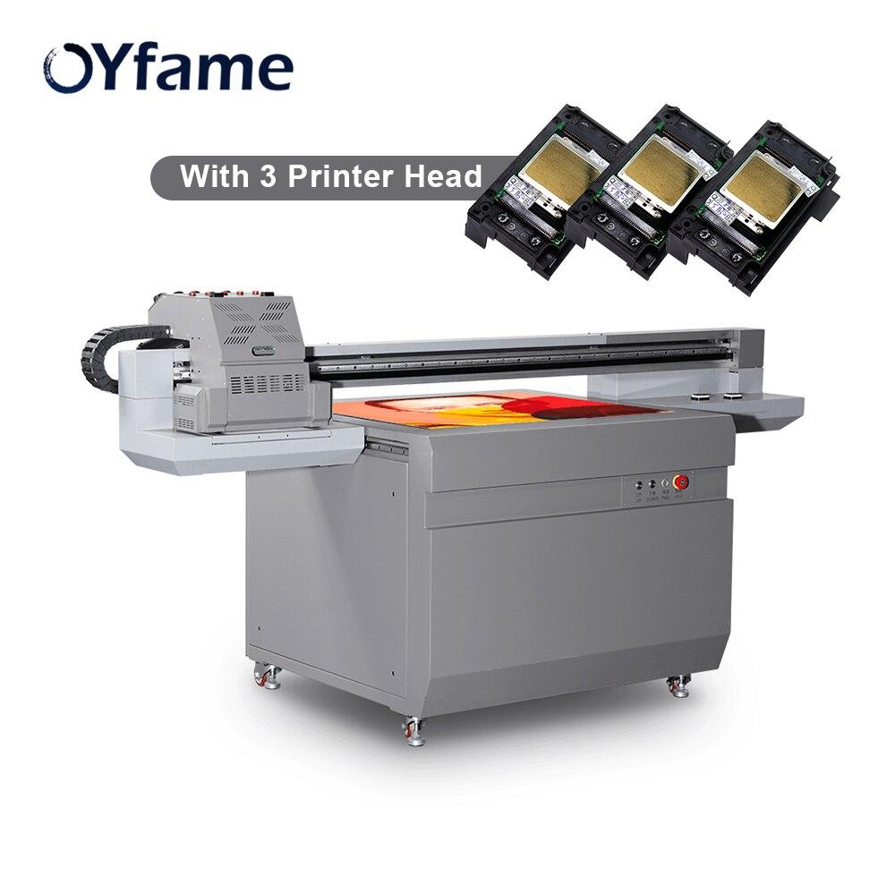 OYfame 9060 UV Flatbed Printer 3 Printer Head Uv Printing Machine For Acrylic Metal Leather Wooden Large Format UV Printer