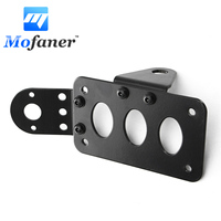1 Set For Harley Metal Axle Side Mount Scooter Moped License Holder Plate Motorcycle Number Plate