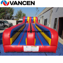 New crazy inflatable running game 10*4m infltable bungee run good quality 2 lanes bungee run game for kids and adult roshe run купить москва