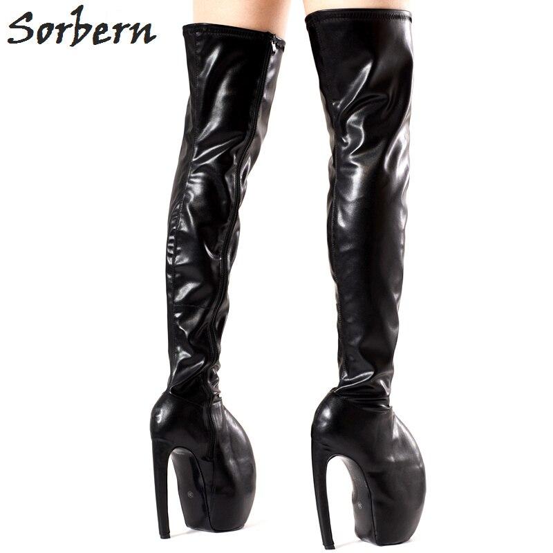 Women/'s Leather Super talon haut dessus genou bottes cuissardes bout pointu et Night-Club Chaussures