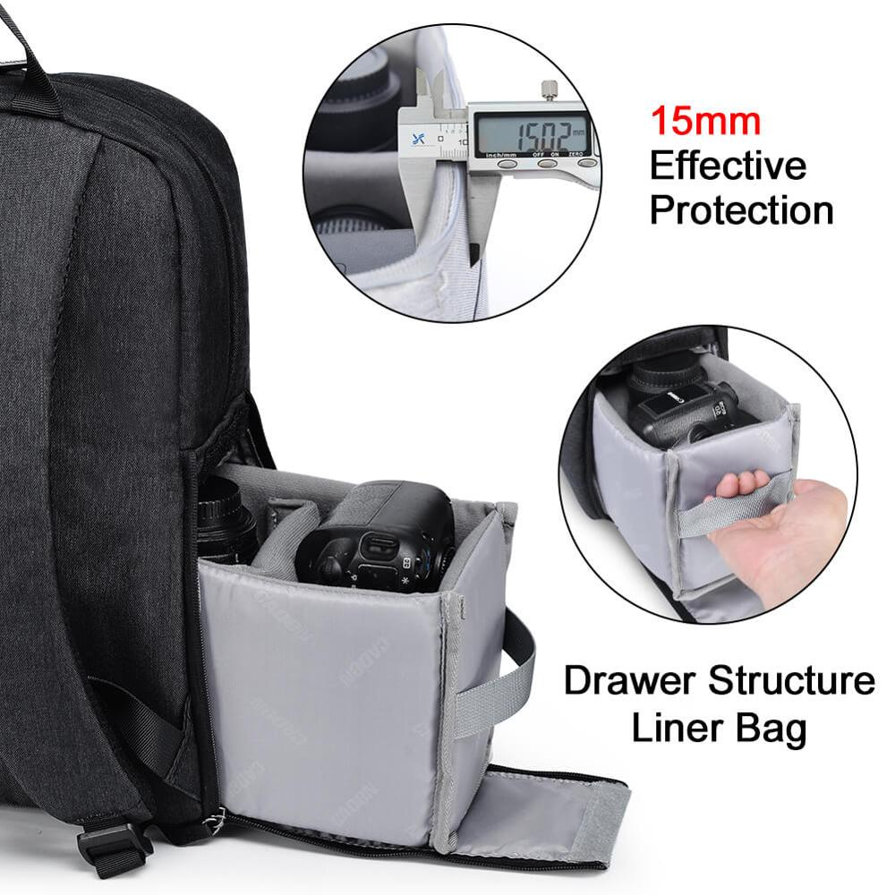 Image 5 - CADeN L4 dslr camera bag waterproof backpack shoulder Laptop digital camera & lens photograph luggage bags case for Canon Nikon-in Camera/Video Bags from Consumer Electronics