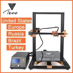2019 neueste TEVO Tornado 3D Drucker Komplett Montiert Aluminium Extrusion 3D Druck Maschine Impresora 3d Titan Extruder V1.0