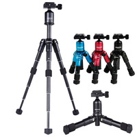 fusitu Lightweight Professional Portable Travel Aluminum Camera Tripod Desktop Mini Tripod Kit with Ball Head for DSLR Camera