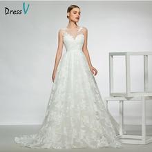 Dressv elegant sleeveless floor length wedding dress