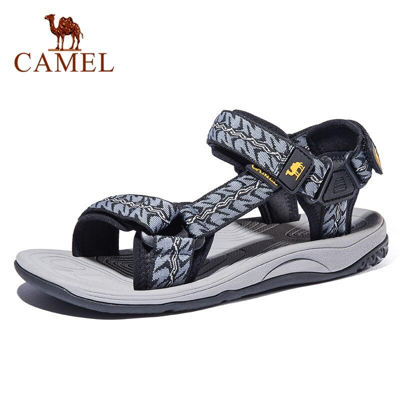 CAMEL Men Women Outdoor Beach Sandals Summer Casual Comfortable Anti-slip Beach Outdoor Sports Fishing Sandals