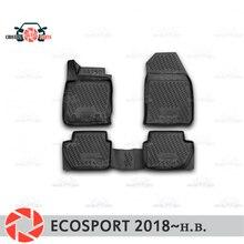 Коврики для Ford Ecosport 2018 ~ коврики Нескользящие полиуретановые грязезащитные внутренние аксессуары для стайлинга автомобилей