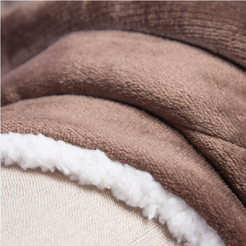 Naturelife Brown Soft Sherpa Blanket Weighted Coral Blankets Travel