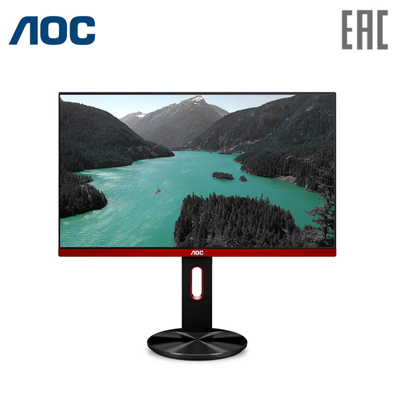 Computer monitor AOC G2590PX Black with screen rotation (LED, 1920x1080, 1ms, 400 cd/m, 20M:1, +2xHDMI, +DisplayPort, +USB, +MM) usb multi angle rotation adjustment 100lm led warm white light desk lamp w suction cup black