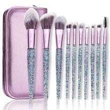 Makeup Brushes with Case ENZO KEN 10Pcs/9pcs Synthetic Foundation blush brush Powder Blending Makeup Brushes Set Professional