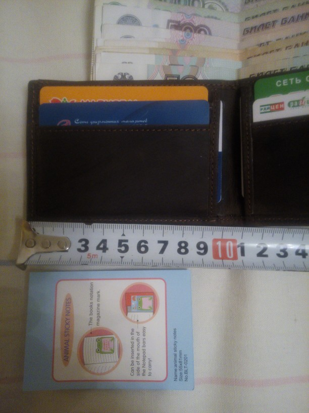 MS Random Logo Crazy Horse Leather Fashion Men Money Clip Slim Bifold Wallet Vintage ID Credit Card Bag Money Wallet Coffee K125 photo review