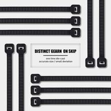 ZHEJIN Cable Zip Ties, Self-Locking Nylon Ties Black Fasten Loop Various Specifications 100pcs