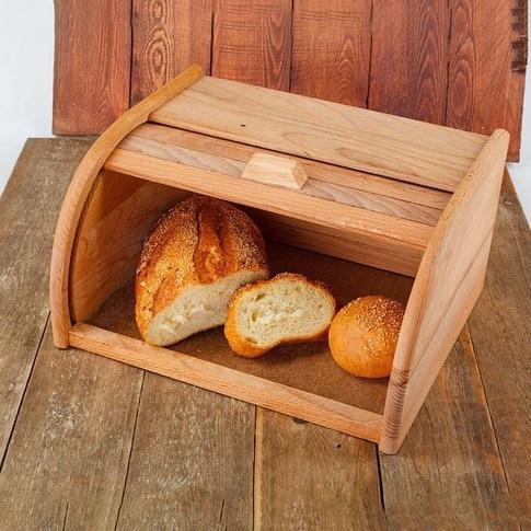 Boîte à pain boîte de rangement panier à pain planche casserole machine à pain bois hêtre naturel vente porte-pain récipient de stockage des aliments 40-11