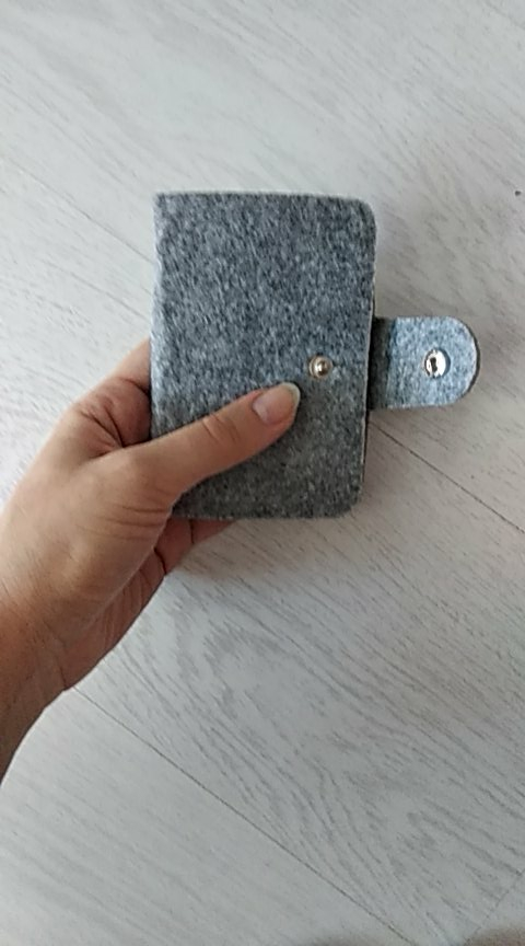 Vintage Women's Men's ID Credit Card Button Case Holder Wallet Organizer Gift photo review