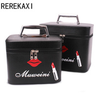 REREKAXI Luxury Cosmetic Case Professional Toiletry Bag Travel Organizer Female S Makeup Kit Beautician Makeup Case