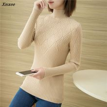 33 new qiu dong half a turtle neck stretch knitted sweater F1878 render unlined upper garment of cultivate morality Xnxee