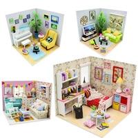 Pocohouze doll house DIY miniature dollhouse wooden toys for children