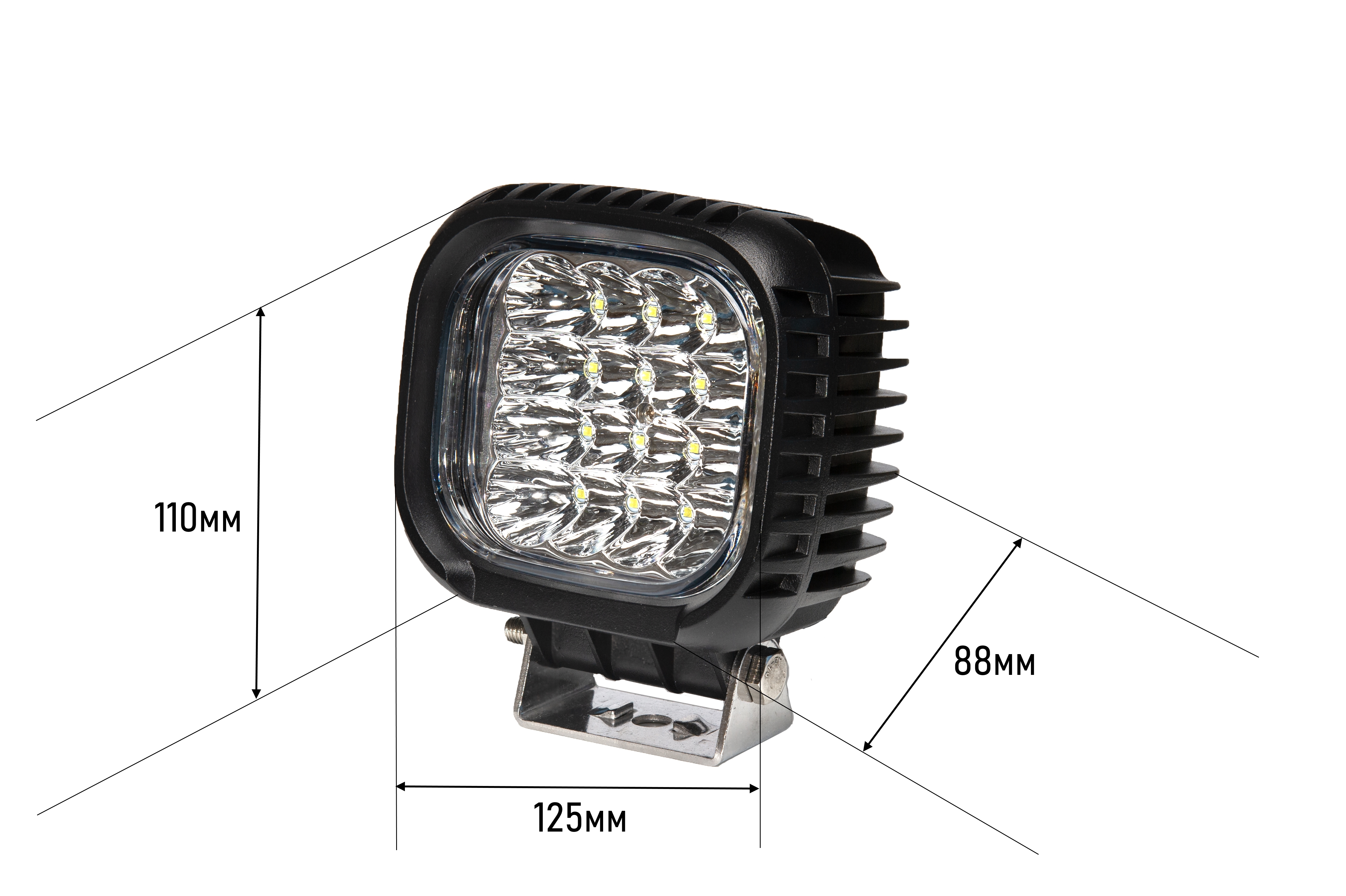 Image 5 - 48W LED Work Light Fog Lights 12V IP67 Spot/Flood Fog Light Off Road Tractor Train Bus Boat Floodlight ATV SUV Car Accessories-in Car Light Assembly from Automobiles & Motorcycles