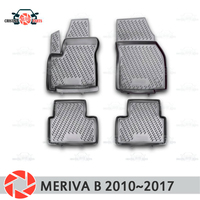Floor mats for Opel Meriva B 2010~2017 rugs non slip polyurethane dirt protection interior car styling accessories