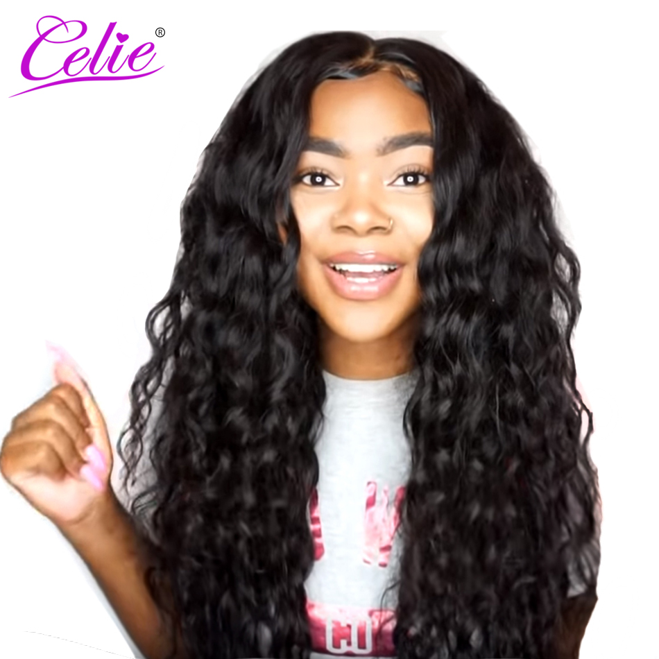 Celie Lace Front Human Hair Wigs Loose Deep Wave For Black Women Lace  Frontal Remy Brazilian Wigs Pre Plucked Lace Front Wig 25f7c62b38