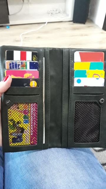 DUSUN Long Wallet Women Travel Passport Cover Card Case Credit card holder Bank Card Package Soild Coin Money Bag Purse Female photo review