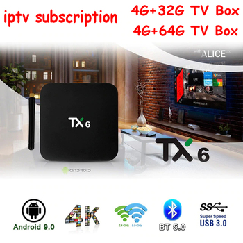 Android 9.0 TX6 Allwiner H6 Android tv box 4GB+32GB/64GB 4K H.265 5/2.4G Wifi BT4.1 iptv subscription Smart Media set top box