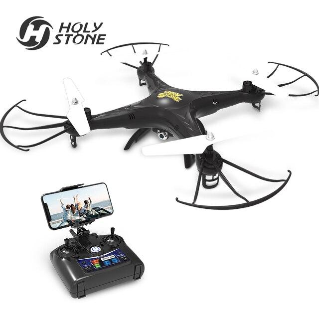 Святой камень HS110 FPV Радиоуправляемый Дрон с Камера вертолет 720 P HD Видео Wi-Fi 2,4 ГГц 4CH 6 оси гироскопа высота Удержание квадрокоптер Quadcopter