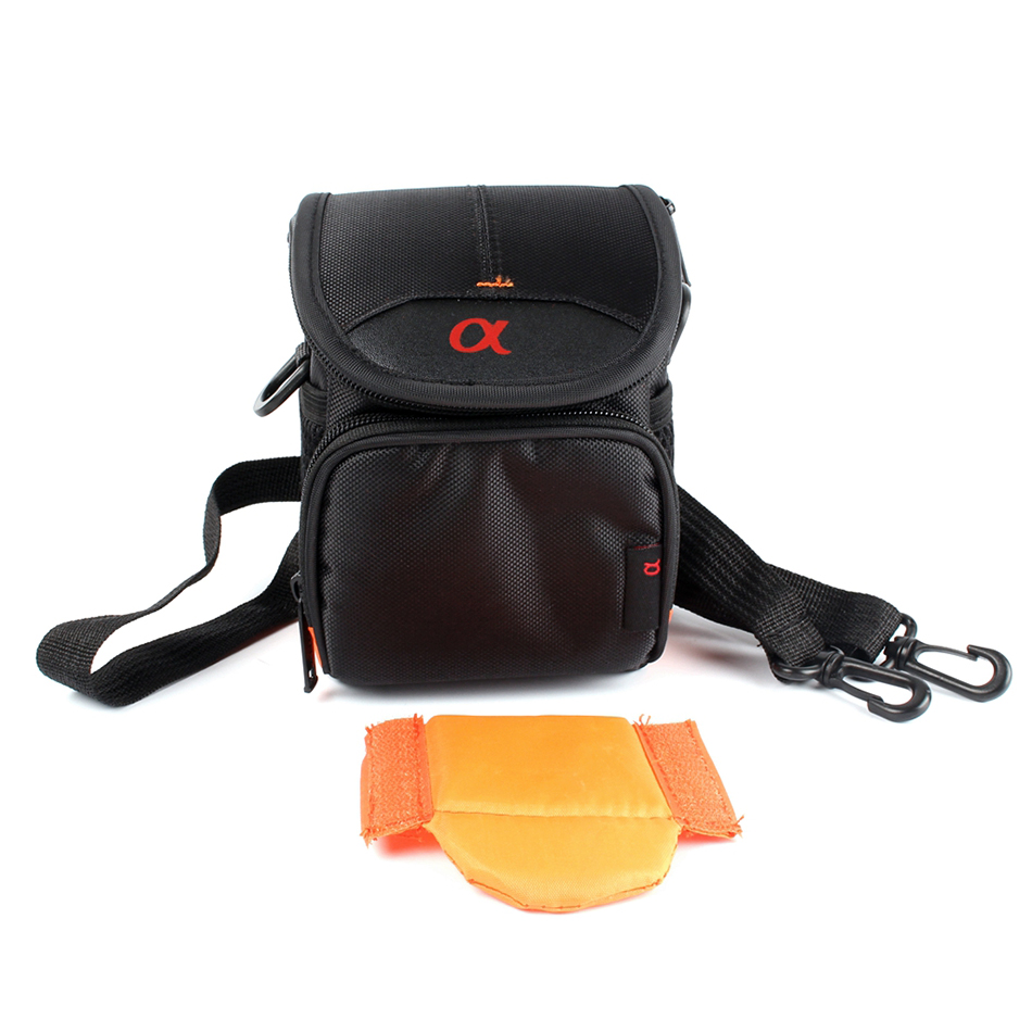 Digital Camera Cover Case Bag for Sony A6500 A6300 A6000 A5100 A5000 NEX-5T 5C 5R 3N F3 5N HX90 HX80 HX60 HX50 WX500 With Strap