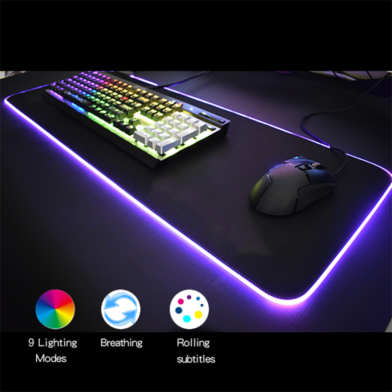 Large Rubber Mouse Pad Keyboard Mat Computer Gaming Colorful Pad for PC