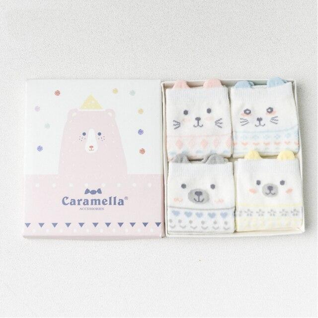Комплект детских носков «Забавный Медведь», 4 пары