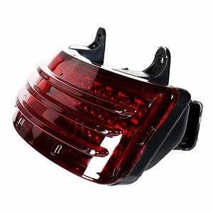 Image 3 - Red Tri Bar LED Rear Tail Brake Fender Tip Light For Harley 14 18 Street Glide&15 18 Road Glide Models