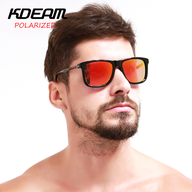 KDEAM KD9022 Transformers Square Polarized Sunglasses