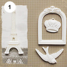 Vintage Angel Heart Rectangle Resin Embellishment Frame Scrapbook DIY Craft Set(China)