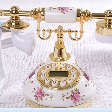DIS-8675 teléfono antiguo vintage de moda teléfono rústico Redial/manos libres/identificador de llamadas