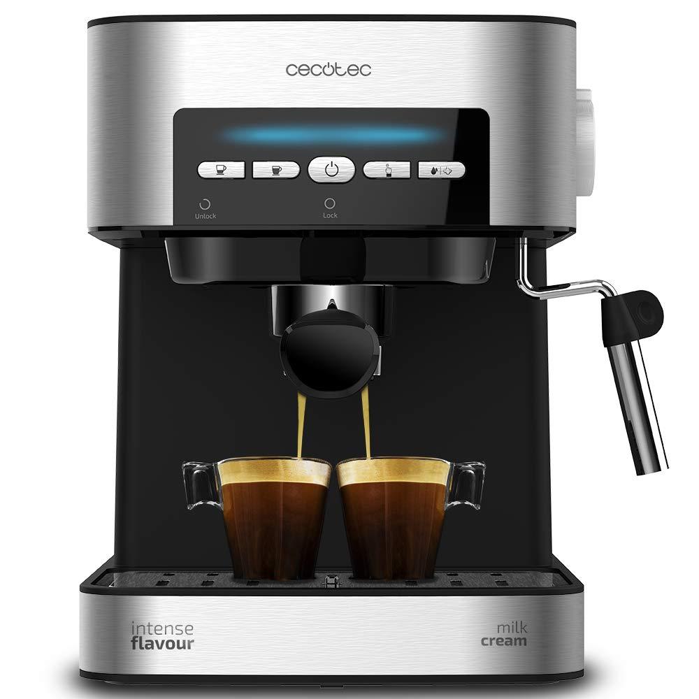 Cecotec Digital Power 20 Matic Cafetera Express Para Espresso Y Capuccino, 850W  20 Bares, Negra