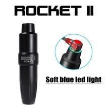 ¡Lo más nuevo! Cartucho rotativo de pluma de tatuaje, luz LED, aluminio, maquillaje permanente, máquina de tatuaje de cejas Rocket II