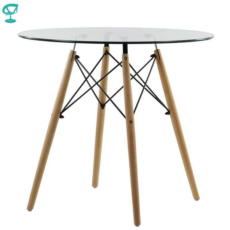 95247 Barneo T-18 Interior Dinner Table Bar Table Kitchen Furniture Dining Table Glass Transparent Free Shipping In Russia