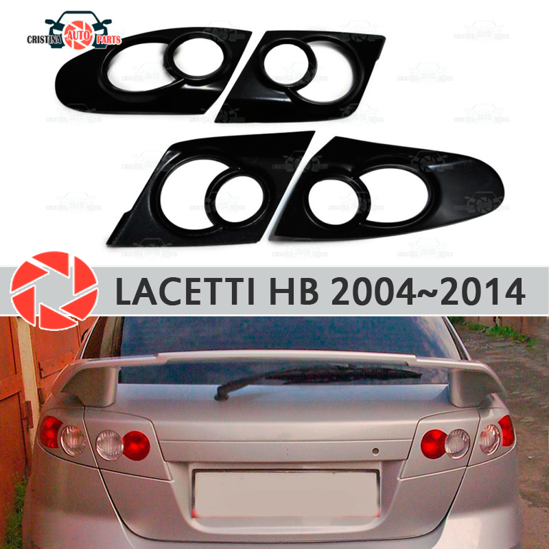 Eyebrows for Chevrolet Lacetti Hatchback 2004-2014 for rear lights cilia eyelash plastic ABS moldings trim covers car styling car covers abs chrome front headlight lamp cover fit for 2012 2014 ford ranger car styling